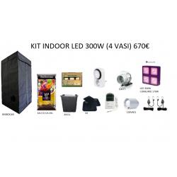 KIT INDOOR LED 300W (4 VASI)